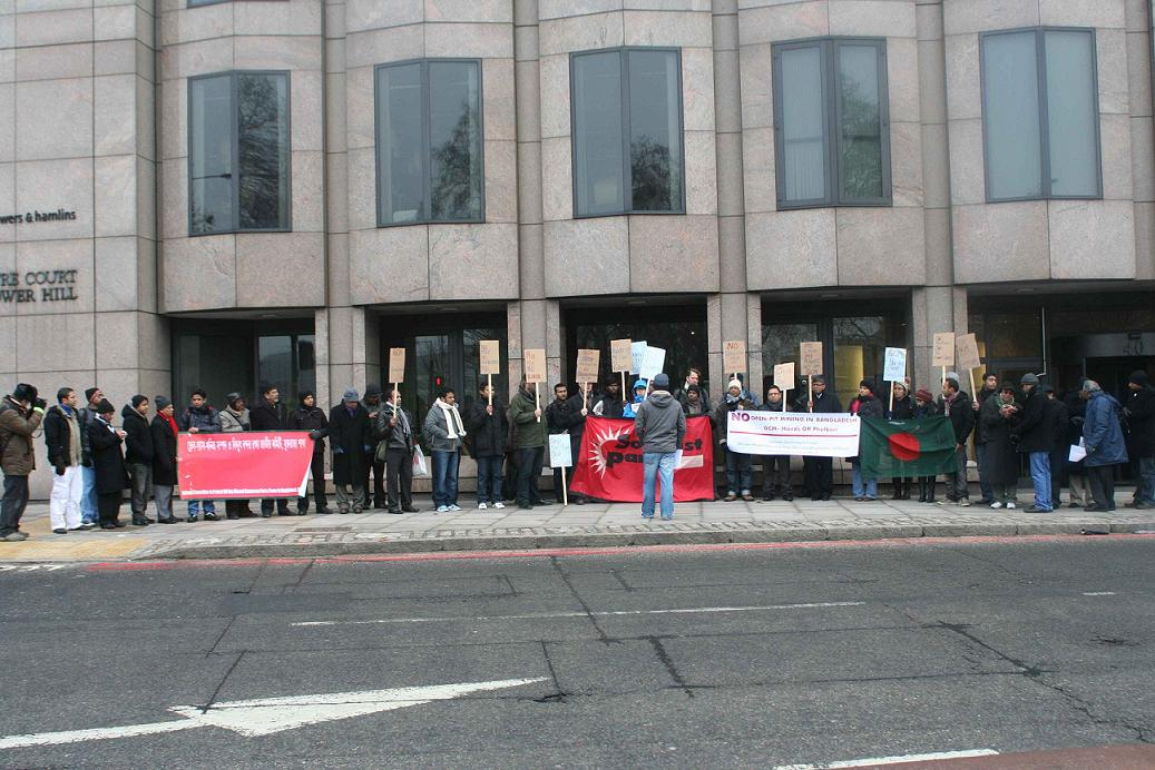 Phulbari protest in London GCM Resources AGM