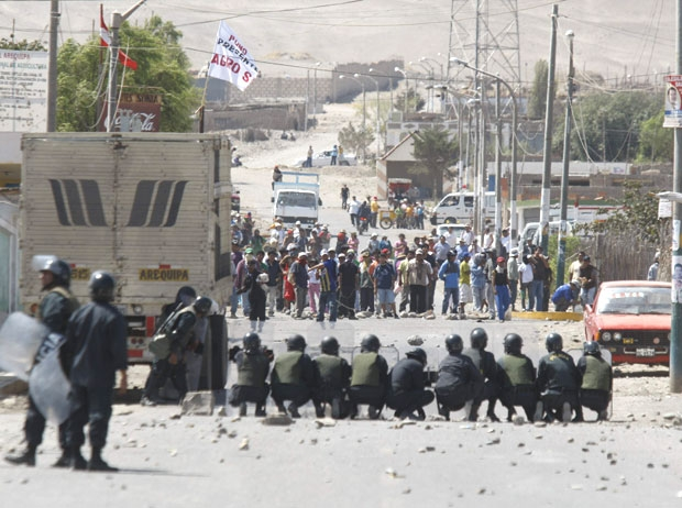 Protests at Tia Maria mine in Peru