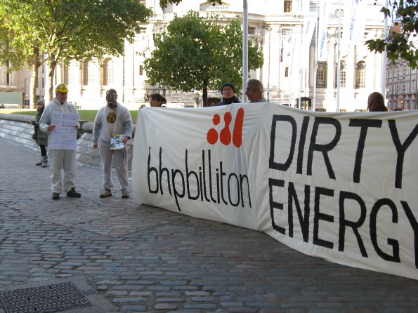 BHP Billiton AGM protest 2011