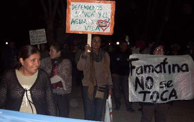 Protests in Famatina over Osisko deal, Argentina