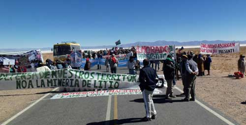 Indigenous peoples in Jujuy province protest over lithium exploration