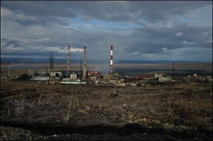 One of the Norilsk Nickel's plant on the Kola Peninsula in Russia