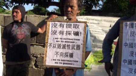 Palawan demonstration against Chinese investors on 10 November