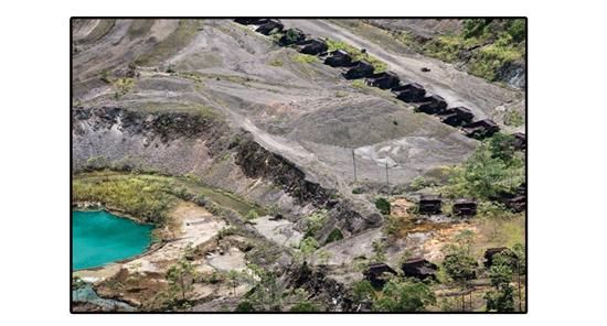 Panguna mine on Bougainville