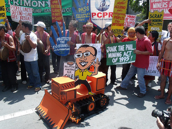 Philippine mining conference protest