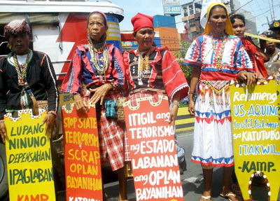 Philippine indigenous peoples protest