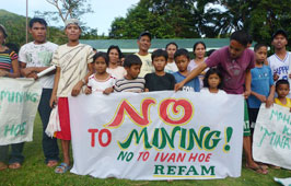 Residents of Tablas Island protesting mining applications of Ivanhoe