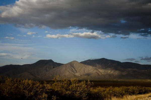 The Wirikuta mountain range in the Chihuahua desert in central Mexico