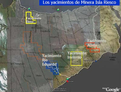 Map of Mineral Isla Riesco