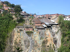 A view of the mountainside village of Marmato, Colombia