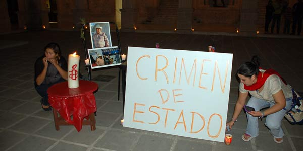 Protests around the murder of two Mexican mining campaigners