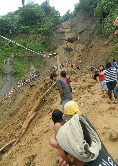 View of January 2012 Pantukan landslide