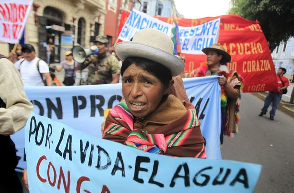 An Andean woman marches for the right to water