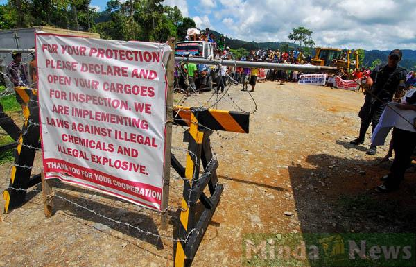 "TVI Resources Development (Phils), Inc., an affiliate of the publicly listed Canadian mining firm, TVI Pacific, has been barring entry not only of ""illegal chemicals"" and ""illegal explosives"" into the minesite at Sitio Balabag, Barangay Depore, in Bayog, Zamboanga del Sur"