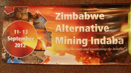 Poster for Zimbabwe Alternative Mining Indaba