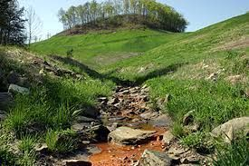 "Acid mine drainage from a ""reclaimed"" mine in Kentucky"