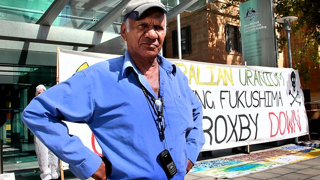 Kevin Buzzacott outside the Federal Court, which has dismissed his legal challenge against BHP's expansion of Olympic Dam