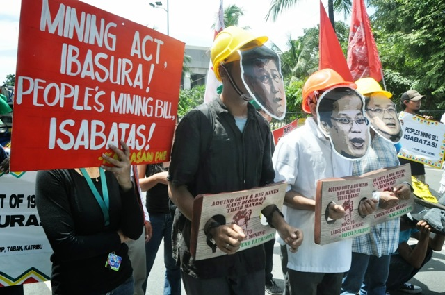 Philippines Mining protest