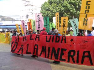 January 24 march against the proposed Mining and Hydrocarbons Law