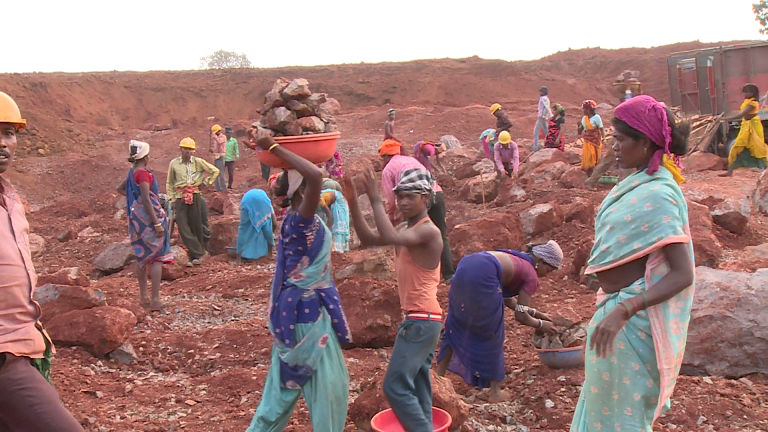 Workers at mine